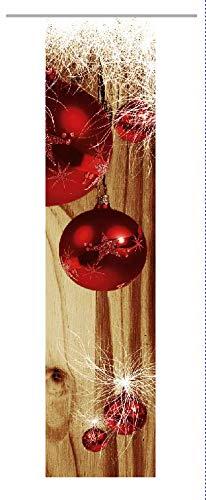 gardinen-for-life Flächenvorhang Weihnachten Modern Red-Brown, Moderner  Schiebevorhang, Gr.60x245 cm