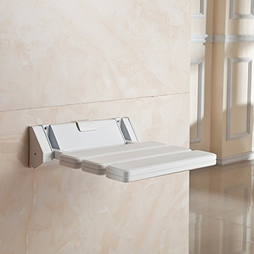 Etechmart Wall Mounted Abs Plastic Foldable Shower Stool