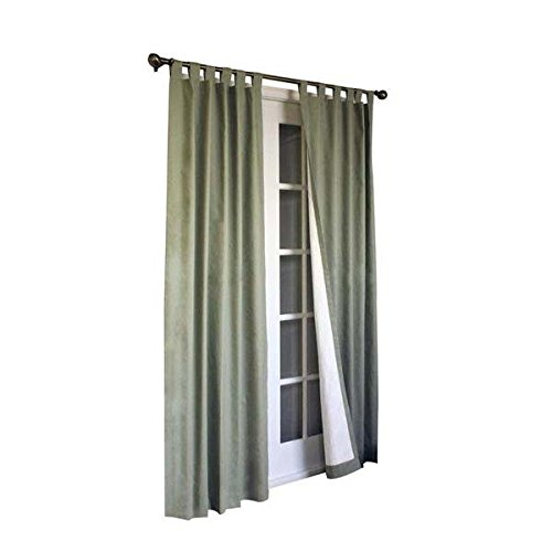 Commonwealth Home Fashions 70292-153-714-84 Thermalogic Insulated Solid Color Tab Top Curtain Pairs 84 in., Sage