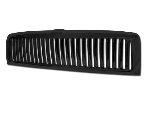 R&L Racing Black Finished 1994-2001 For Dodge Ram 1500/2500 / 3500 Vertical Front Bumper Grill Grille ()