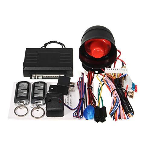 Universal 1 Way Car Security Alarm System w/2 Key Remote Controls Shock Sensor - Car Alarm & Security Car Alarm System - 1 X