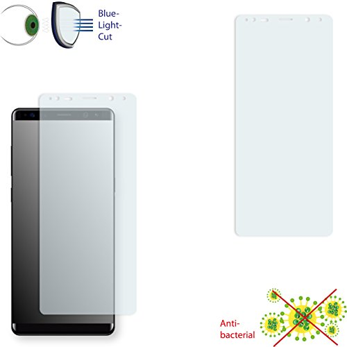 2 x DISAGU ClearScreen Screen Protection Film for Samsung Galaxy Note 8 Antibacterial, BlueLight Filter Protective Film (Reduced foil)