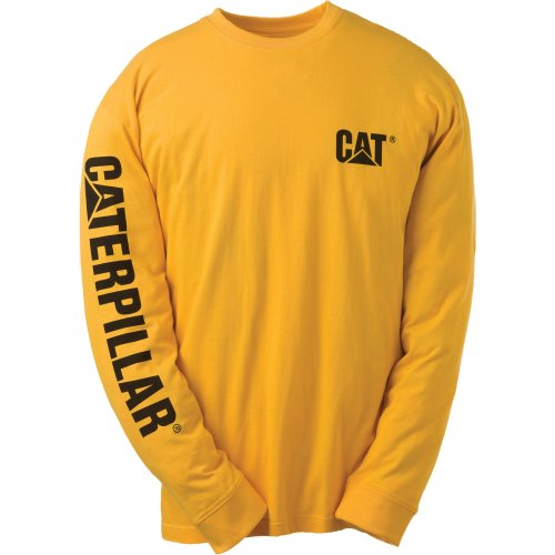 Banner Kingsize Heather T shirt s Grey Trademark Caterpillar Yellow L qEcFgBqv