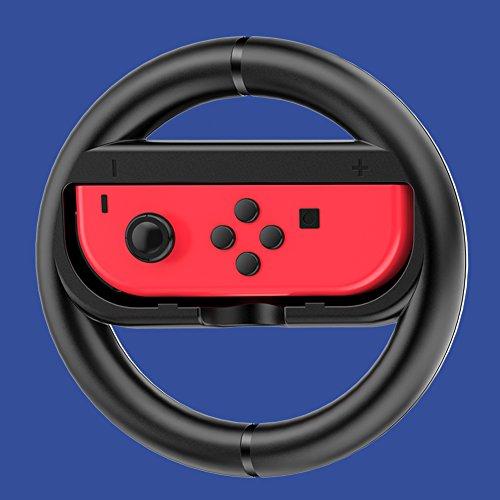 AUPALLA Steering Wheel for Nintendo Switch(2 Pack) (Black)
