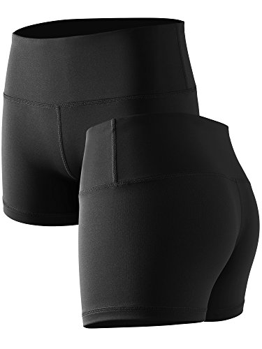 Cadmus Womens High-Waist Stretch Athletic Workout Shorts with Pocket