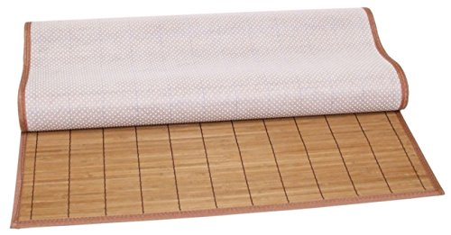 [Natural Brown Bamboo Area Rug 3-Foot by 6-Foot, Non-slip Backing] (Rectangular Bamboo Area Rugs)