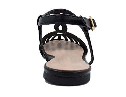 Alla Sandali Donna Nero Con Cinturino Maxmuxun Caviglia IvzOwqnC