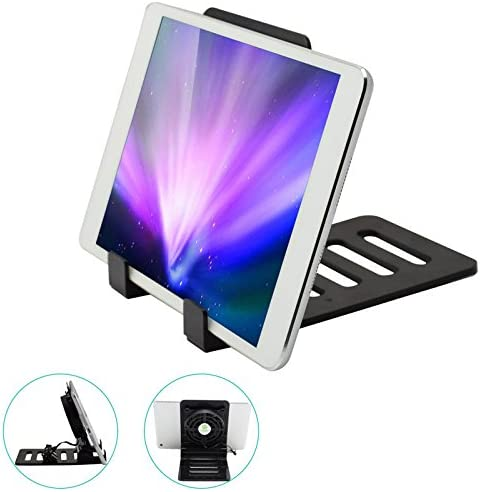 Jzenzero USB Desk Phone Fan Quiet Cooling Pad Radiator with Foldable Stand Holder for iPhone iPad Tablets Laptops