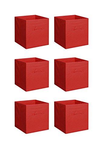 Phantomx 6 PCS New Home Storage Bins Organizer Fabric Cube Boxes Basket Drawer Container