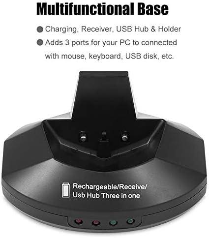 45532rr Souris sans Fil Souris sans Fil 2,4 GHz Mini Souris Optique USB Mini récepteur sans Fil Optique Ordinateur Gaming Mouse (Color : Silver) Blue