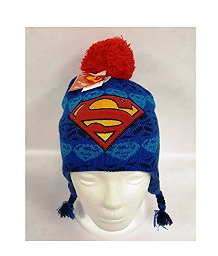 Superman Boys Winter Beanie Hat (Superman Adult Onesie)