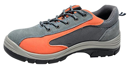 Safety Shoes Shoes Work Optimal Men's Orange Steel Shoes Comp Toe Gray fqE85x8n