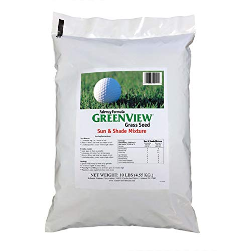 GreenView Fairway Formula Grass Seed Sun & Shade Mixture, 10 lb Bag