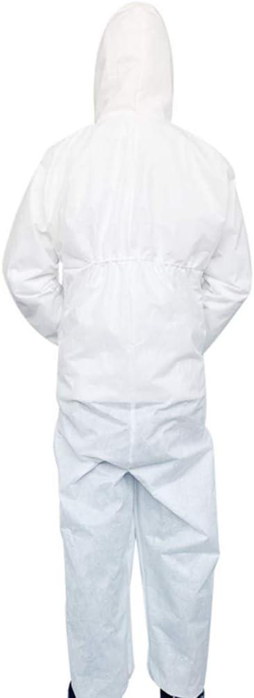 Artibest color azul Mono protector antiest/ático de seguridad industrial con capucha y pu/ños el/ásticos color azul talla XL