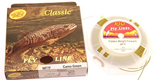 - RIO Jim Vincent's Classic Fly Fishing Line WF-7-F Camo Green 82' Nib