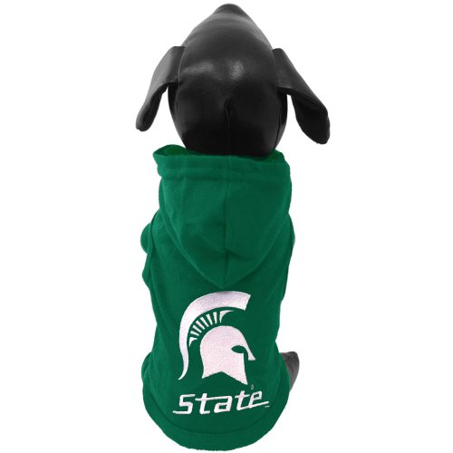 NCAA Michigan State Spartans Cotton Lycra Hooded Dog Shirt, X-Small