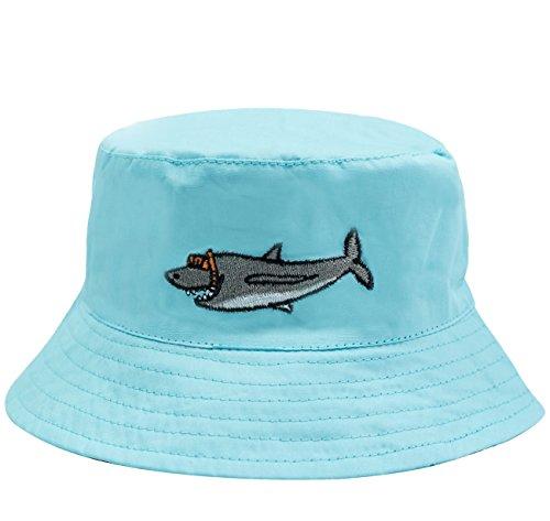 (ERISO Baby Toddler Plaid Bucket Reversible Sun Protection Animal Hat ((20.5