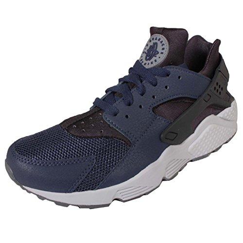 Nike Air Huarache Hombres Correr Entrenadores 318429 Zapatillas De Deporte Zapatos (us 7, Mediados De La Armada Oscuro Ceniza Gris Fresco 409)