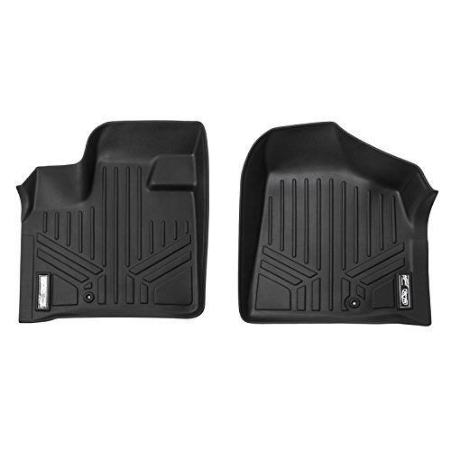 SMARTLINER Floor Mats 1st Row Liner Set Black for 2008-2018 Dodge Grand Caravan / Chrysler Town & Country