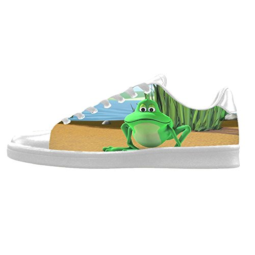 Custom Rana divertente Mens Canvas shoes I lacci delle scarpe in Alto sopra le scarpe da ginnastica di scarpe scarpe di Tela.