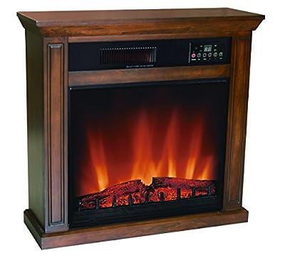 Comfort Glow EF5675R-3 1500-watt Quartz Infrared Electric Fireplace Oak