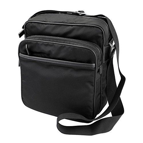 Tessuto Black Messenger Bag - Prada Men's Black Nylon Cross Body Bag VH029