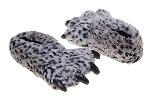 di Chiaro Zampa Pantofole Comodo con Leopardo Pantofole Caldo Grigio Unisex CHNMARKET Zampa d'orso con xp8WZnqpIO