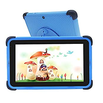 Youngsters Pill 7 inch 32GB ROM 2GB RAM Kidoz Studying Tablets IPS HD Show WiFi Android 10.0 Pill Appropriate with Disney+ App, Child-Proof Bluetooth Tablets for Youngsters, Blue