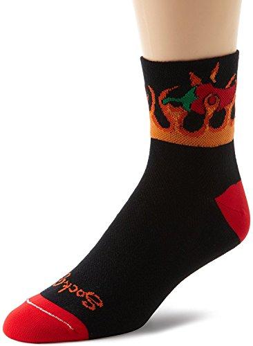 指導する検査官選択SockGuy Men's Spicy Socks Black Large/X-Large [並行輸入品]