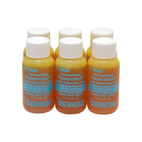 Tracer Products TP3820-0601 Bottled Oil Dye for R134A/PAG - 1 oz, (Pack of 6) by Tracer