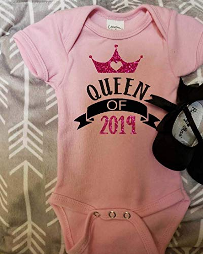 Queen of 2019 Baby bodysuit baby's first new years New years baby clothing girl Happy new year new years kids clothing new years 2019 ()