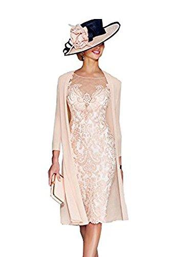 Elegant Rosa Chiffon 40 Kleider Festlich dressvip Damen paBqqw1