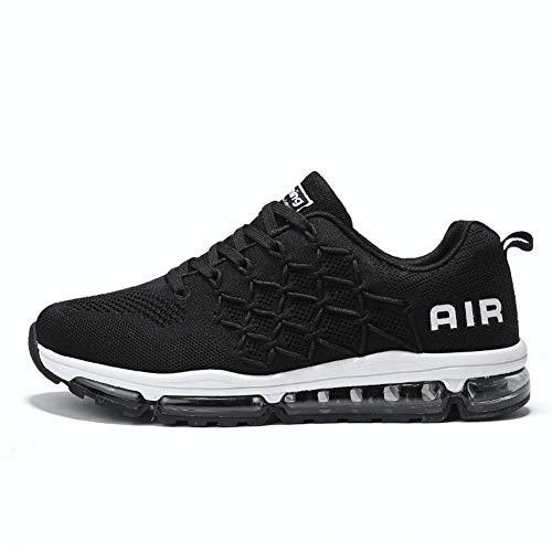 TORISKY Womens Mens Walking Casual Shoes Air Cushion Running Jogging Gym Sports Sneakers(877-BK41) (Cushion Running Shoes)