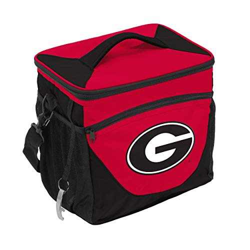 NCAA Georgia Bulldogs 24-Can Cooler with Bottle Opener and Front Dry Storage Pocket