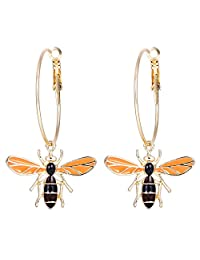 BriLove Women's Wedding Bridal Crystal Honeybee Earrings