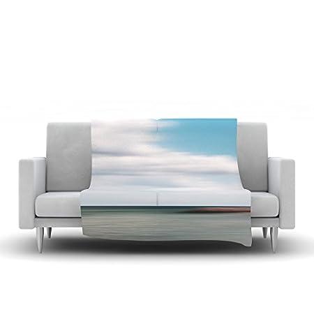 40 x 30 Kess InHouse Iris Lehnhardt June Beach Gray Blue Fleece Throw Blanket