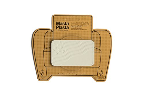 (MastaPlasta Self-Adhesive Patch for Leather and Vinyl Repair, U.S. Flag, Ivory - 4 x 2.4 Inch - Multiple Colors Available)