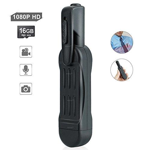 WISEUP 16GB 1920x1080P HD Mini Spy Camera Meeting Recorder Pen Video...