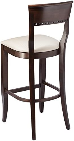 Beechwood Mountain BSD-6B-W Solid Beech Wood Bar Stool in Walnut for Kitchen and dining