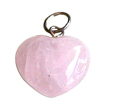shape online at reiki heart rose pink quartz buy products crystal pendant dp