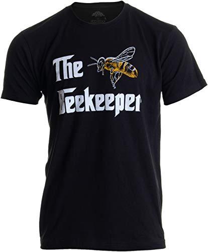 The Beekeeper | Bee Keeper Keeping Apiary Cool Funny Joke Men Women T-Shirt-(Adult,S) Black