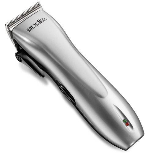 Price comparison product image Andis DualVolt Cordless 18-Piece Hair Clipper with Adjustable Blade, Silver, Model RCC (24140)