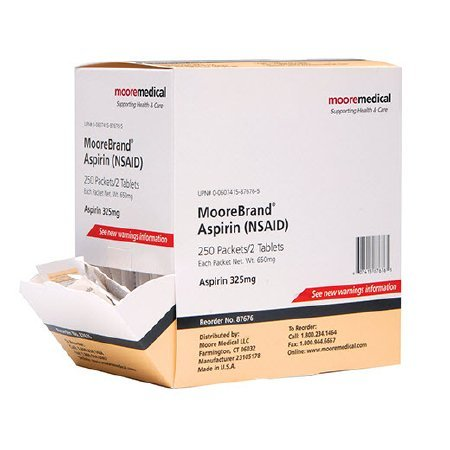 325 Mg 250 Tablets - Moorebrand Pain Relief 325 mg Strength Tablet 2 per Pack - 250 Pack Per Box