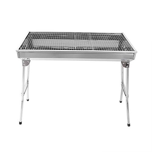 kaidee Home & Garden Yard& Outdoor Living Cooking & Eating Barbecues, Grills & Stove Fold Barbecue Charcoal Grill Stove Shish Kabob Stainless Steel BBQ Patio Camping from kaidee