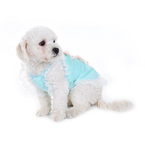 Foerteng Pet Dog Cat Clothes Premium Cotton Cute Rabbits Pattern Puppy Vest T-Shirt Dog Costume Size XS/S/M/L, (Costumes For Puppies)