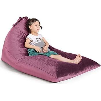 Amazon Com Stuffed Animal Storage Bean Bag Chair For Kids