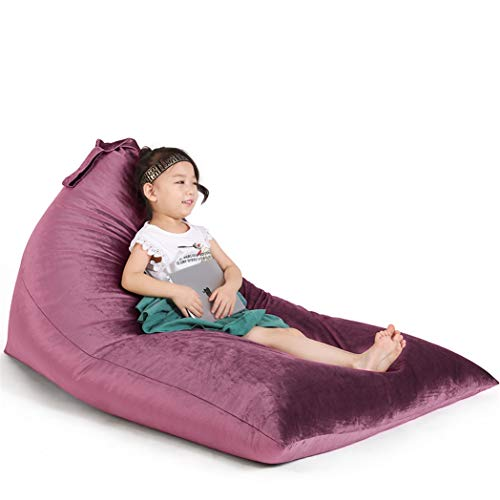 Stuffed Animal Storage Bean Bag Chair for Kids and Adults. Luxury Velvet Stuffie Seat – Cover ONLY Purple 200L 52 Gal
