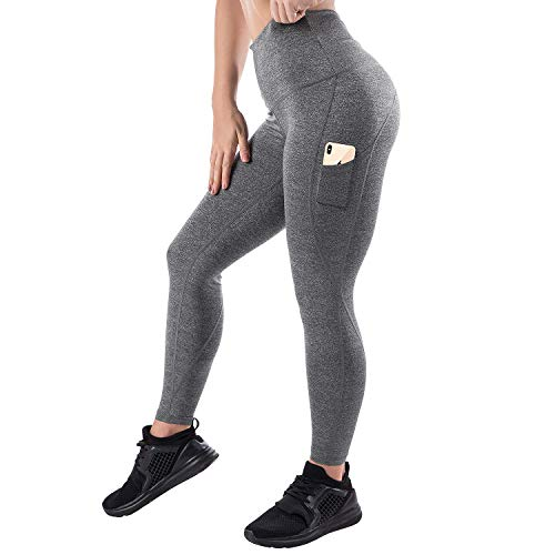 Mava High Waist Yoga Leggings with Pockets - Tummy Control for Running, Fitness, Workout, Pilates, 4 Way Stretch Lifting Compression Pants - Soft ComfortableYoga Pants - Workout Pants for Women