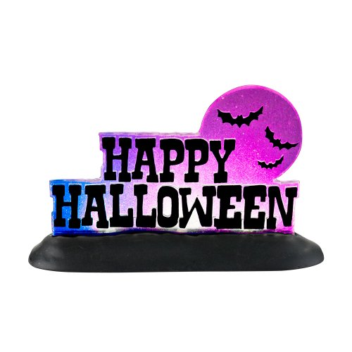 Happy Halloween Sweetheart (Department 56 Accessories for Villages Happy Halloween Lit Sign Accessory Figurine, 2.87)