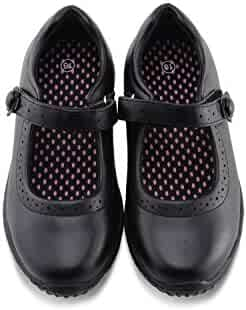 Jabasic Girl's Mary Jane School Uniform Shoes